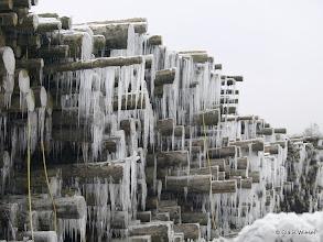 Photo: Eis im Ind.-Geb. Ferndorf im Holzlager nach Kyrill