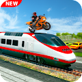 Moto Bike Stunt On Train