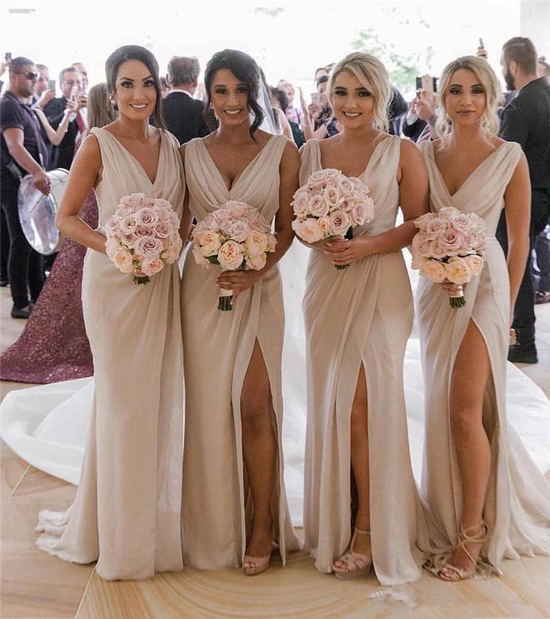 v-neck-bridesmaid-dress