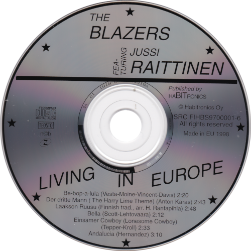 Living In Europe cd