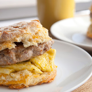 Sausage and Egg Biscuit Sandwich