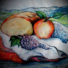 simple things by Vesna Disich - Drawing All Drawing ( fruit, nature, still life, simple, drawung, art )