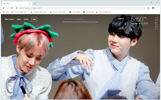 BTS Suga & J Hope Wallpapers Sope New Tab
