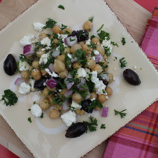 Chickpea Salad with Feta.