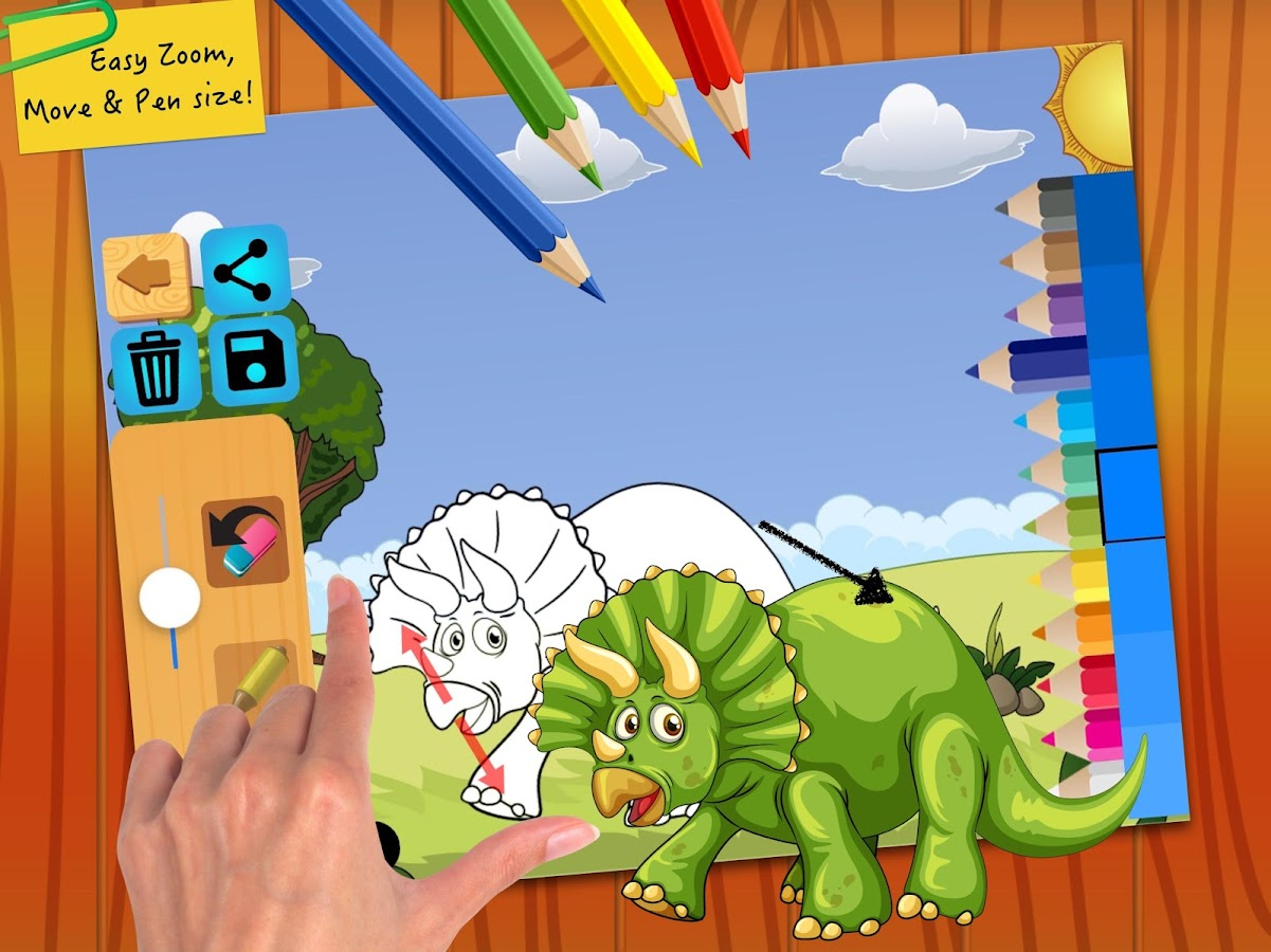 Dinosaur Coloring Book Pages Screenshot