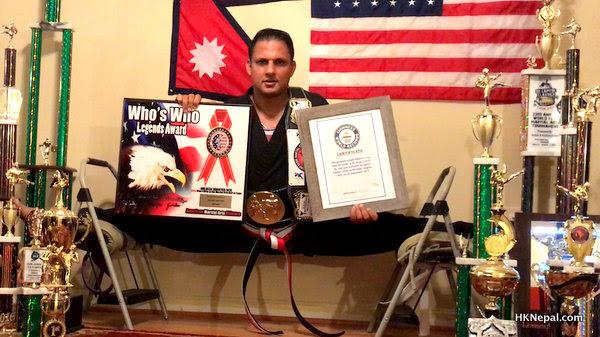 अमेरिकाका नेपाली खेलाडी  'गिनिज बुक अफ वर्ल्ड रेकर्ड' बाट सम्मानित