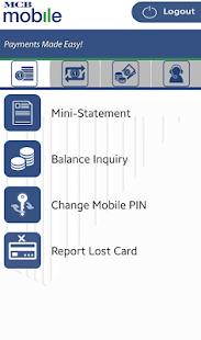 MCB Mobile Banking Application - náhled