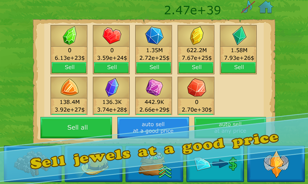 Idle Gold gem clicker- screenshot
