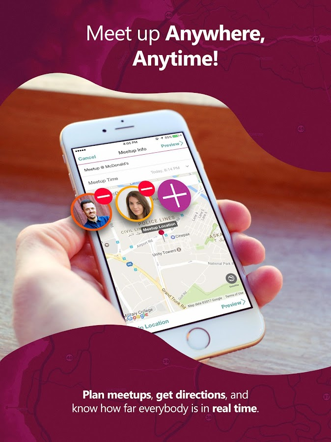 ApproachMe: Locate friends & meet up in real-time- screenshot