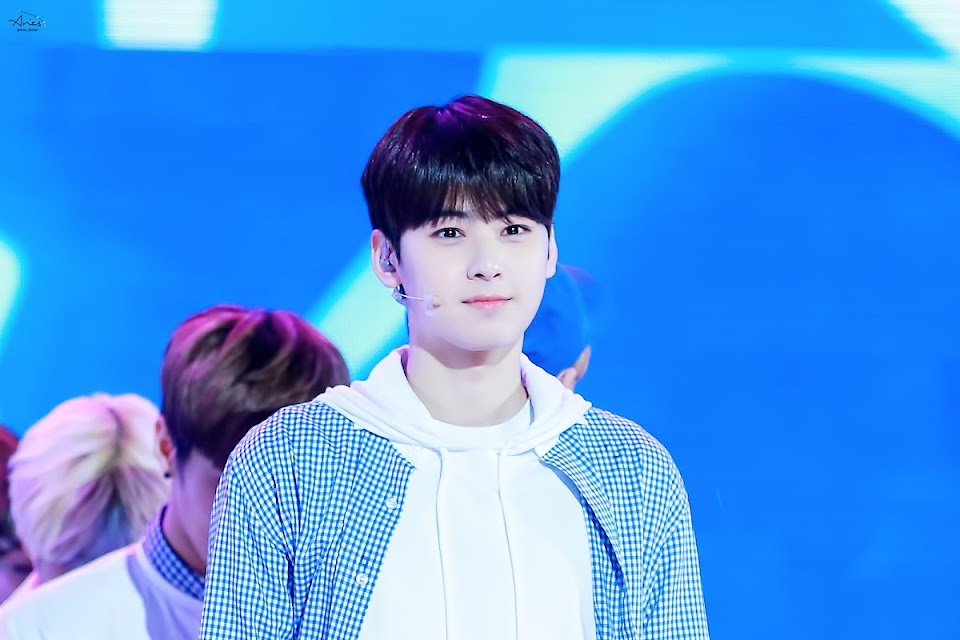 cha eunwoo light hair debut 5