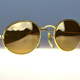 Gold Oval Sunglasses by Cal Brown - Artistic Objects Other Objects ( ray bans, other object, b&l, artistic object, sunglasses )