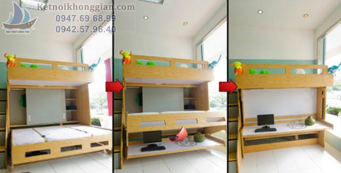 Nội thất thông minh giường tầng