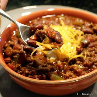 Crock Pot Red Beef Chili.