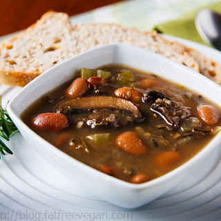 Butter Bean Soup with Portabellas and Wild Rice