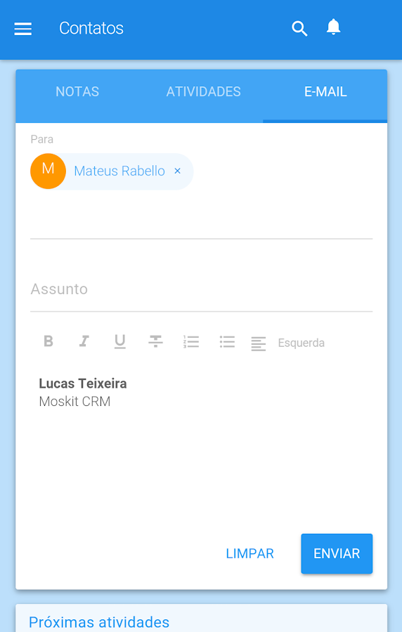 Moskit CRM- screenshot