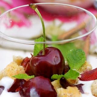 Almond Cake, Ricotta & Cherry Trifle