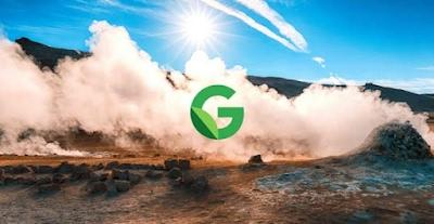 Esempio di risorsa geotermica naturale sulla superficie terrestre