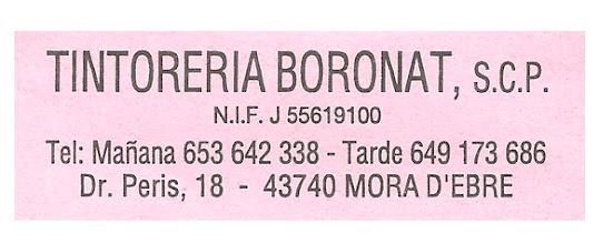 Tintoreria Boronat