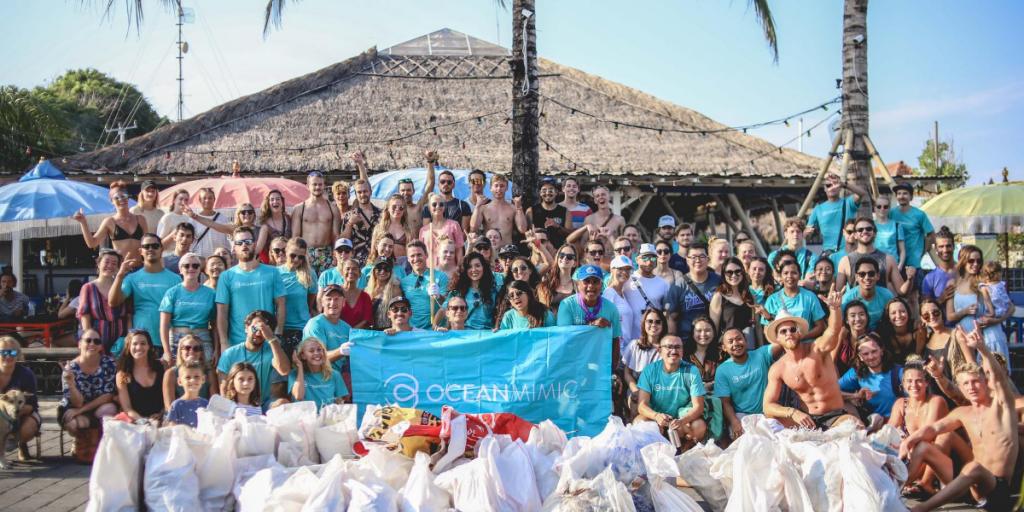 acara bersih pantai dengan Ocean Mimic