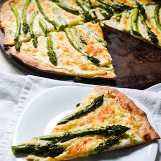 Asparagus White Pizza.