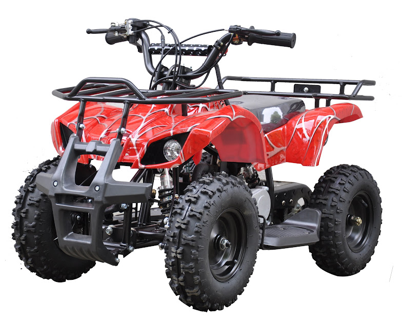 49cc farm ag kids quad bike atv 2 stroke red