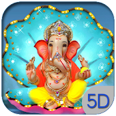 5D God Ganesh Live Wallpaper