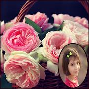 Pink Rose Photo Frames HD