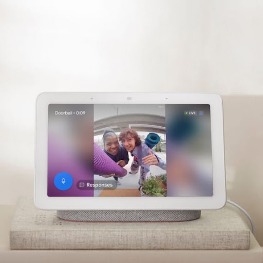 A Nest display with footage from Nest Doorbell.