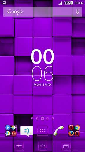 Tiles Purple Xperien Theme