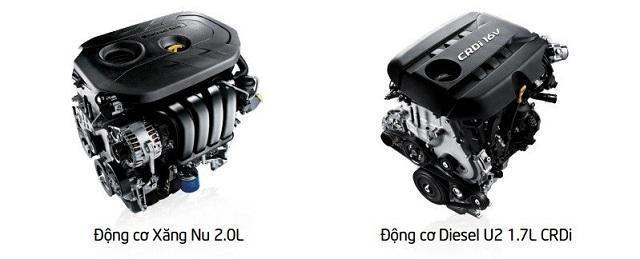 Hai phiên bản động cơ của Rondo 2018 (Nguồn: Internet)