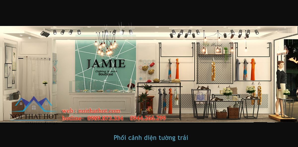 thiết kế shop thời trang ấn tượng mạnh