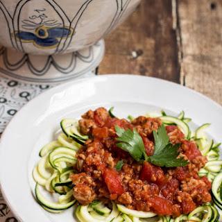 Turkey Spaghetti with Zoodles Recipe