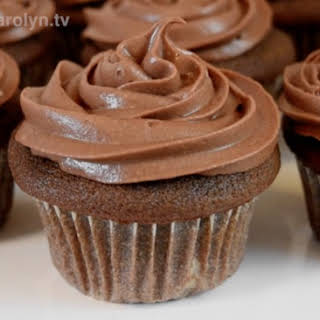 Chocolate Sour Cream Cupcakes with Chocolate Ganache Cream Cheese Frosting.