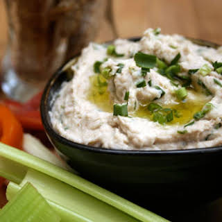 White Bean & Tuna Dip with Garlic Chives.