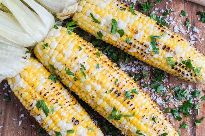 Parmesan Garlic Grilled Corn