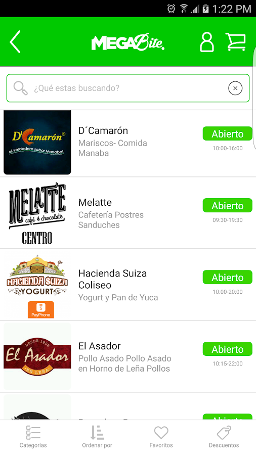 MEGABite - Pedidos a domicilio- screenshot