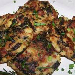 Creamy Mashed Potato Cakes with Sage and Kale.