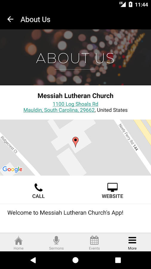 Messiah Lutheran SC- screenshot