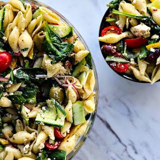 Veggie Lover's Greek Pasta Salad.