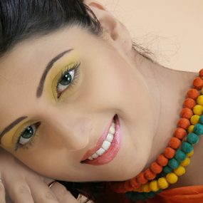 Lady with a smile... by Mahul Mukherjee - People Portraits of Women ( potrait, fashion, girl, lady, smile, best female portraiture )