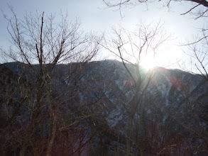 山頂付近から日の出