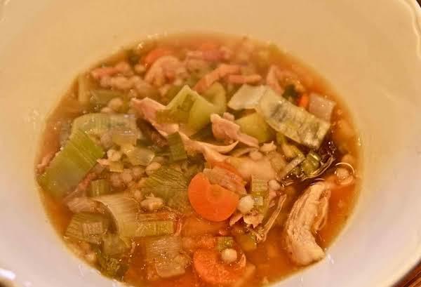 Cock-a-leekie Scottish Chicken Soup