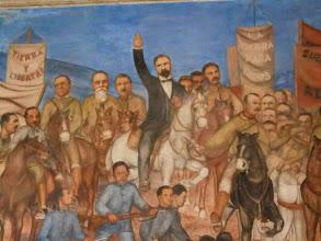 Photo: Mural detail: Francisco I. Madero, revolutionaty hero and martyr.
