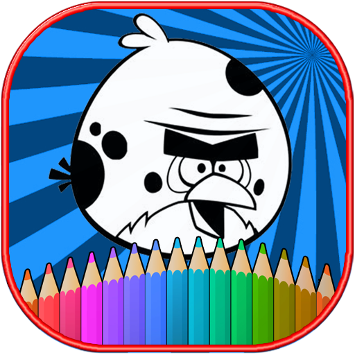 How To color Angry birds kids coloring game