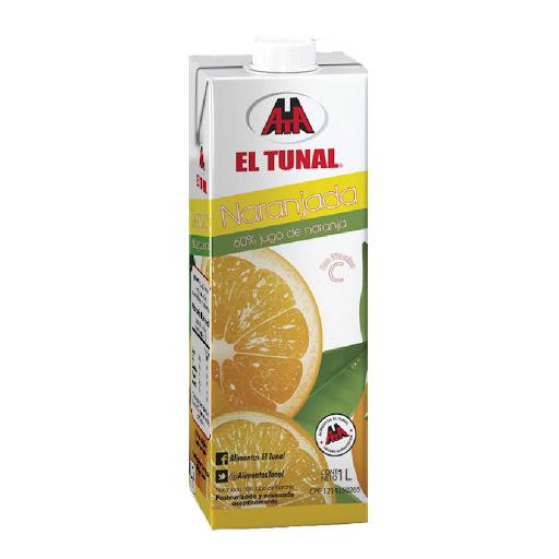 jugo el tunal naranja 60% 1lt