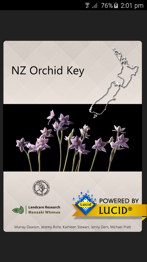 NZ Orchid Key- screenshot