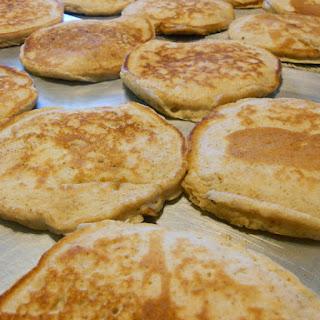 Naturally Sweetened Whole Wheat Banana Bread Pancakes
