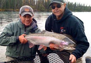 Photo: A trophy Kenai river rainbow trout caught with guide Nigel Fox of Alaska Drift Away Fishing.
