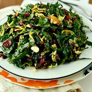 Kale Chopped Salad with Maple-Almond Vinaigrette.
