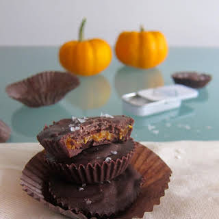 Salted Chocolate Pumpkin Butter Cups.